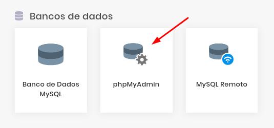 banco de dados phpmyadmin
