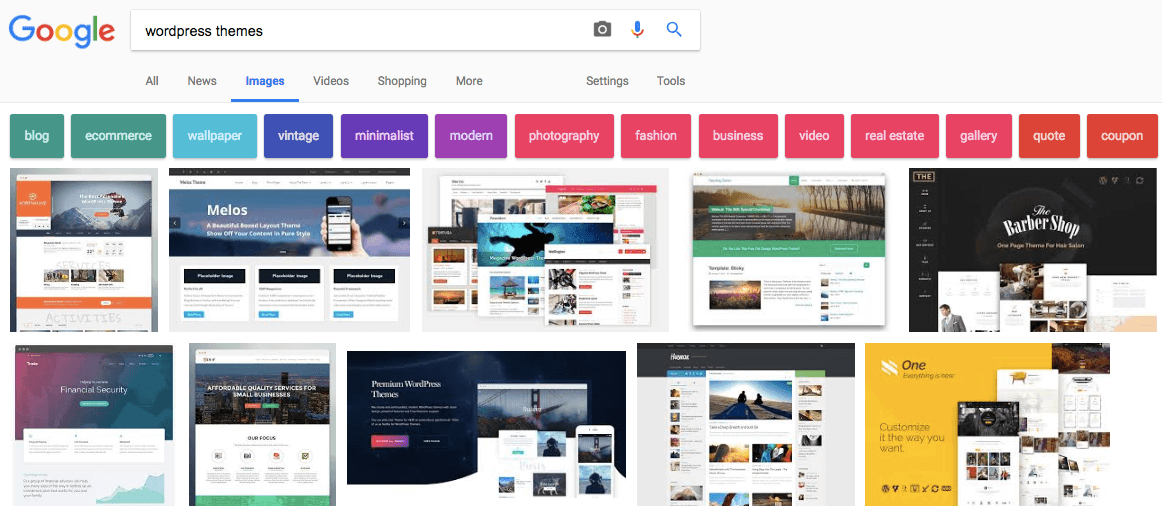 image search traffic on Google