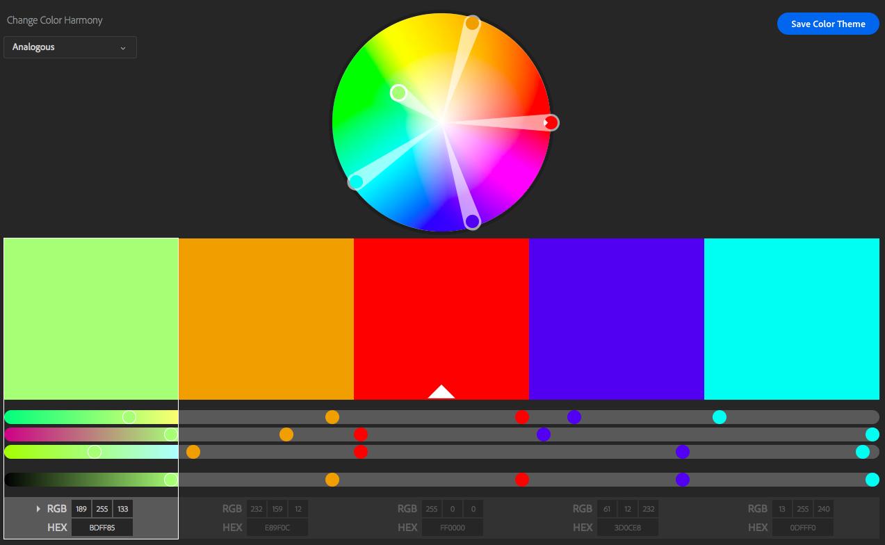 Círculo cromático Adobe