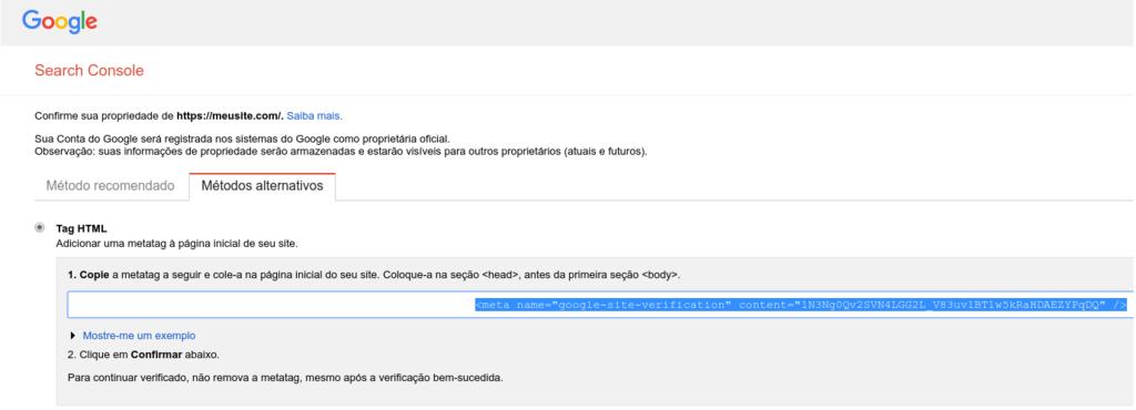 copiando o código HTML