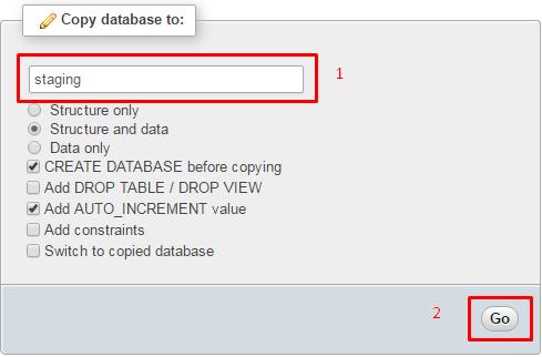 copiando para novo banco de dados