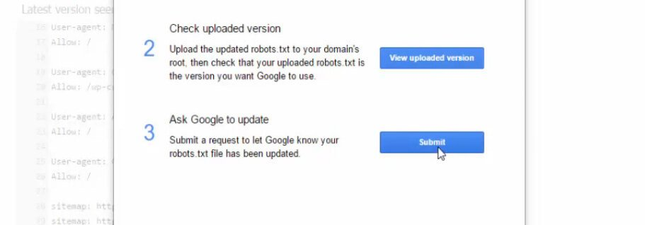 send robots.txt code manually on google search console