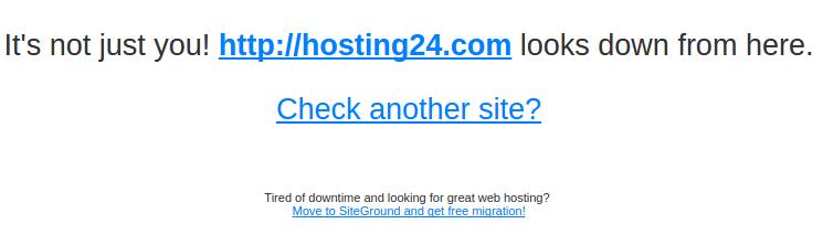 mensagem de que o site está offline no downforeveryoneorjustme.com