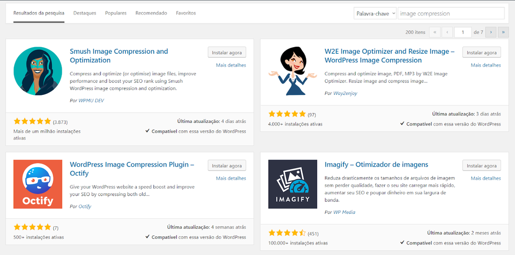 WordPress plugins for optimization and image compression
