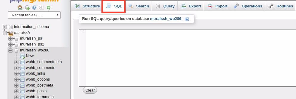 acesso ao sql no phpMyAdim para tirar comentários do wordpress
