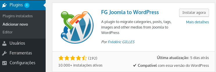 plugin fg joomla to wordpress