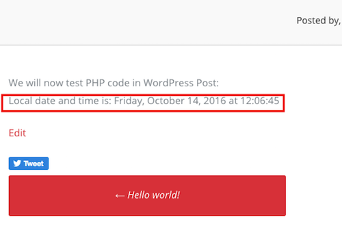 testando código php