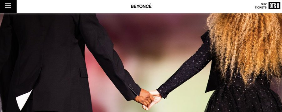 o wordpress é a escolha de cms no site da beyoncé
