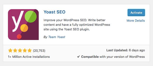 instalando o plugin Yoast SEO