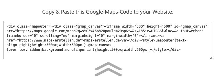 código html para inserir mapas no seu site wordpress com a ferramenta embed google maps