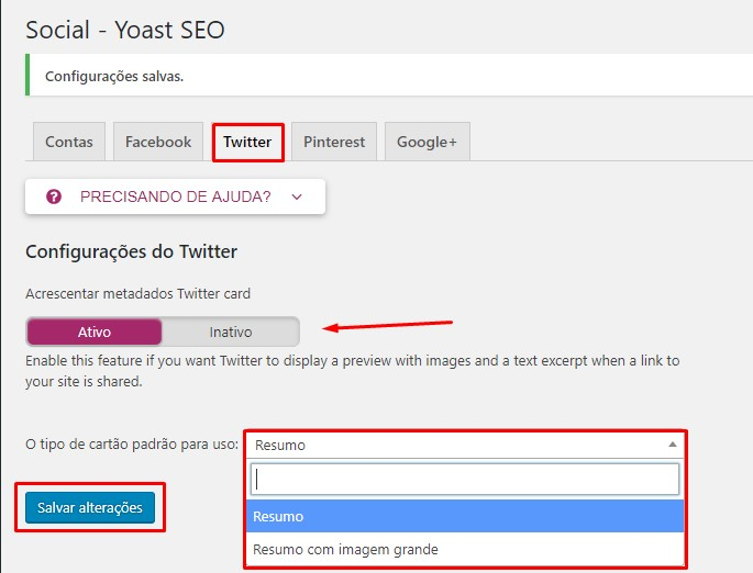 Adicionar e configurar twitter cards no wordpress