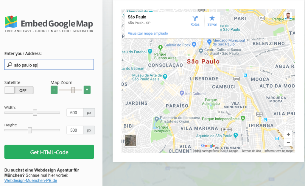 ferramenta embed google map para inserir mapas no wordpress