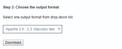 Escolher o formato para gerar lista