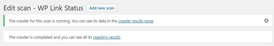 resultado da pesquisa de links quebrados no site