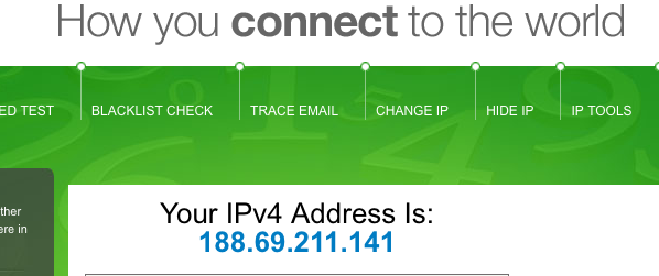 How to check my IP