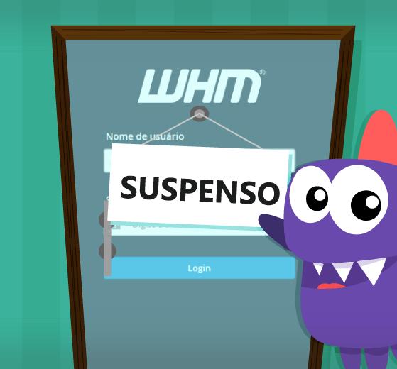 tutorial para aprender como suspender uma conta no WHM