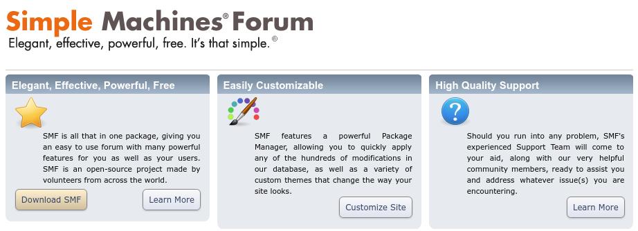 plataforma Simple Machines Forum para fazer uma comunidade na internet