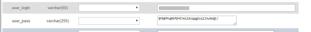 alterar valores no php my admin