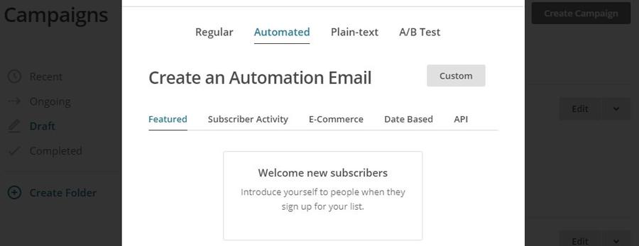 Automatizar email de boas vindas