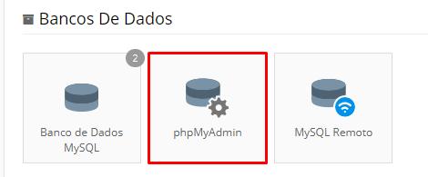 Bando de dados php MyAdmin