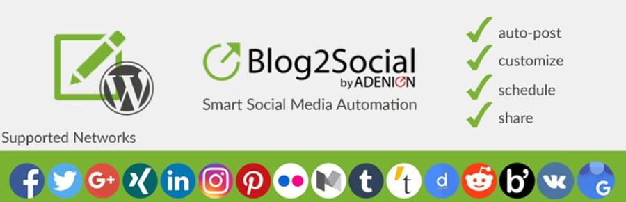 plugin que ajuda como colocar redes sociais no wordpress Blog2social