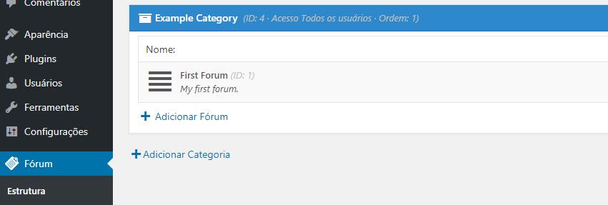 categoria forum