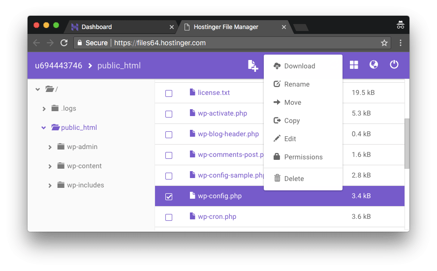 editar arquivo php