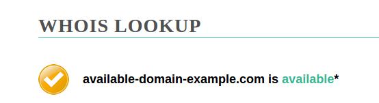 exemplo de domínio disponível