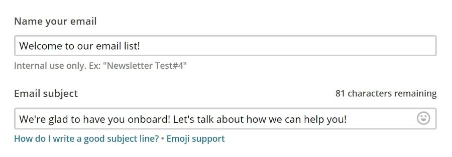 exemplo de email de boas vindas