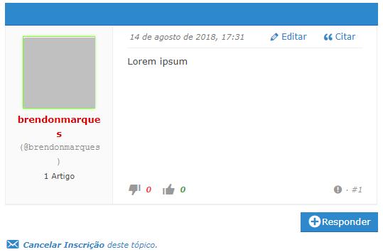 exemplo forum