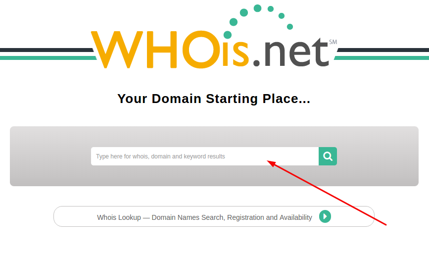 verificar apontamento de domínio pelo who is.net