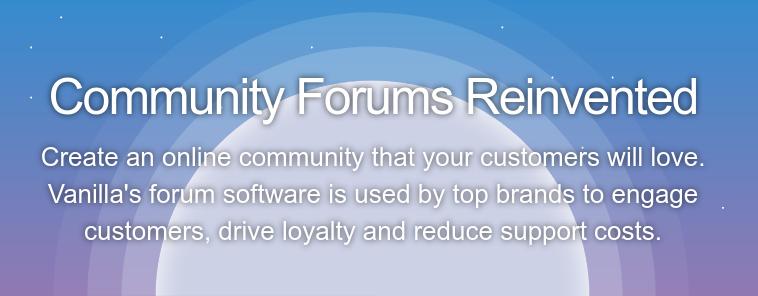 plataforma Vanilla para fazer comunidade online