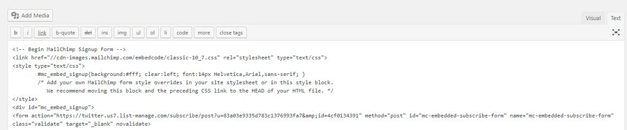 formulário de inscrição em html