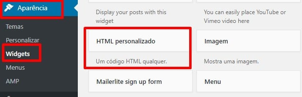 html personalizado wordpress