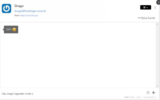 iniciando conversa em um chat online no WordPress