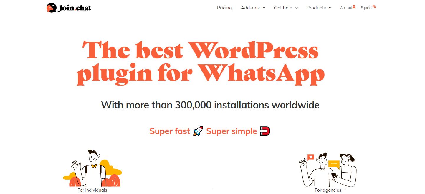 plugin de chat wordpress join.chat