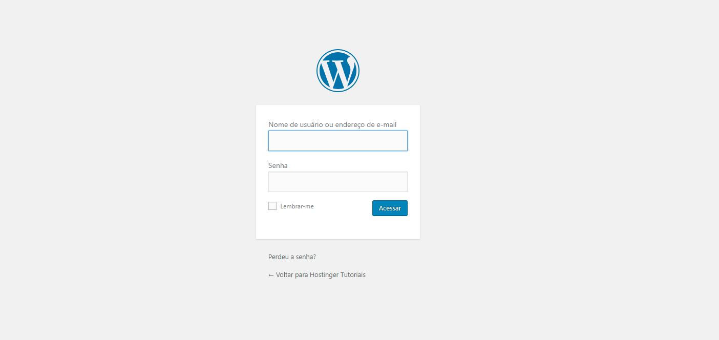 fazer login no wordpress
