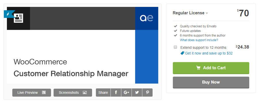 plugin crm wordpress WooCommerce Customer Relationship Manager