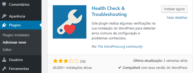 plugin health check troubleshooting