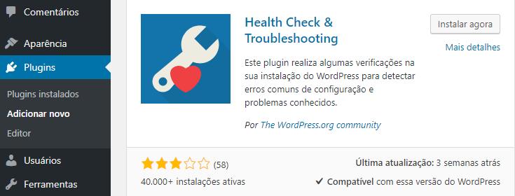 plugin health check troubleshooting
