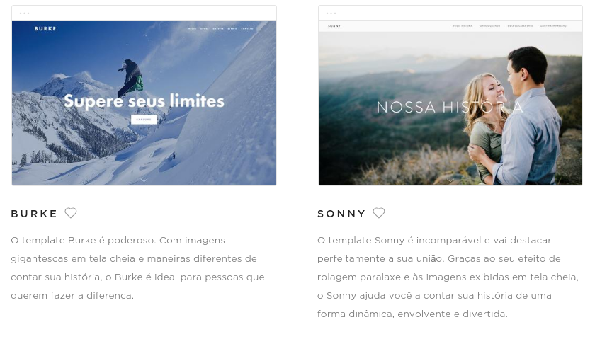 templates para seu site no squarespace