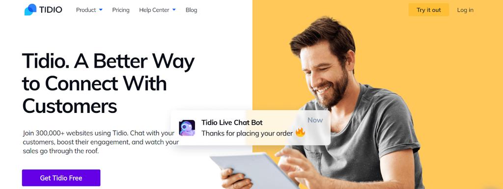plugin tidio para conversas ao vivo com clientes
