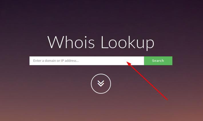 verificar apontamento de domínio pelo whois lookup