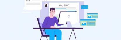 ilustração de tutorial sobre como criar um blog