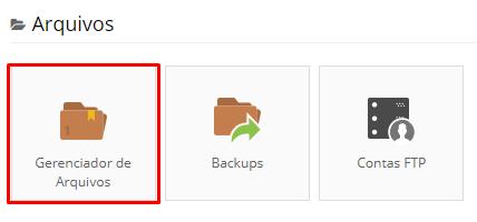 Acessar gerenciador de arquivos