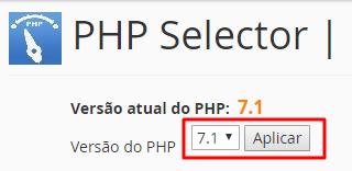 aplicar nova versão do php no cpanel