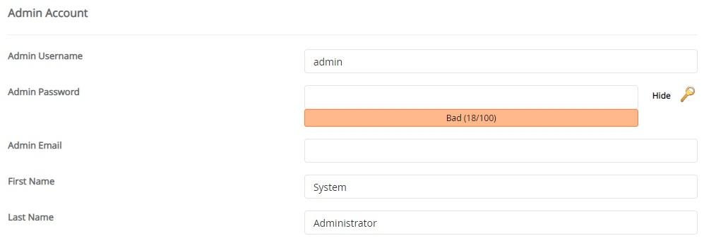 credenciais de administrador opencart