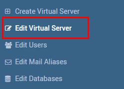 editar servidor virtual privado - vps
