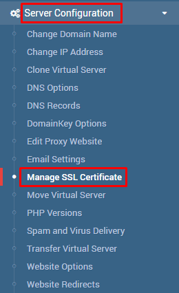 ssl no virtualmin