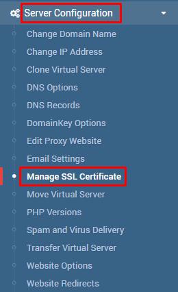 ssl no virtualmin